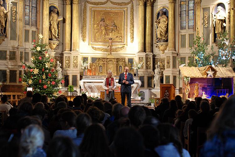 Weihnachtskonzert 2019 der DST in der Kirche Sainte-Marie-Madeleine in Pibrac: Ansprache