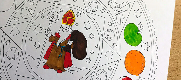 Gemalter Nikolaus bei der Nikolausfeier 2019