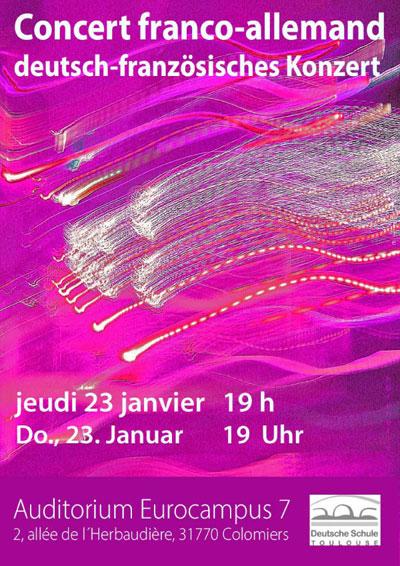 Plakat Concert franco-allmand | Deutsch-französisches Konzert. 23.01.2020