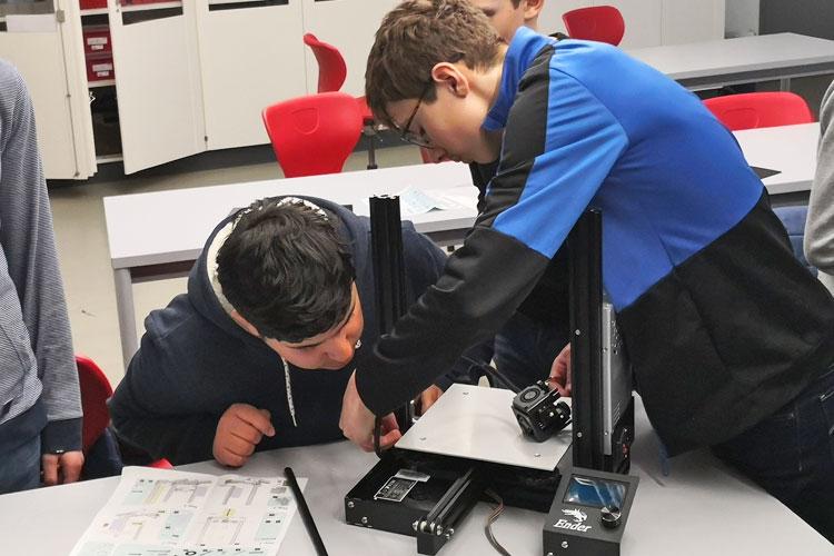 Deutsche Schule Toulouse: 3D-Druck AG 2020 Fotograf: Christian Lang