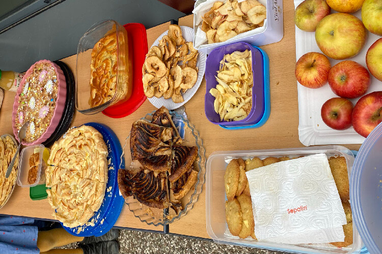 Deutsche Schule Toulouse: Apfelfest Fotograf: Christina Claßen