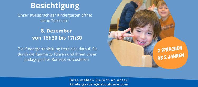 Deutsche Schule Toulouse: Termin für Kindergartenbesichtigung