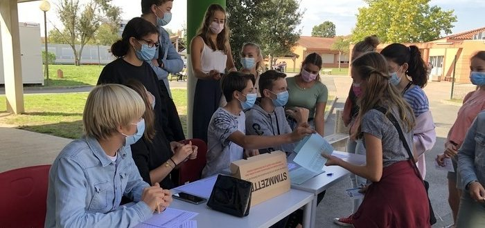Deutsche Schule Toulouse Jugendwahl 2021, Schüler Stimmzettel