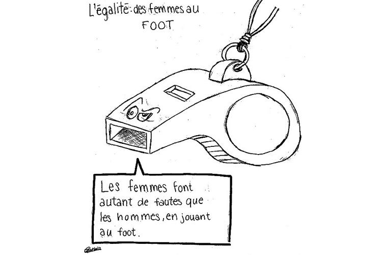 Deutsche Schule Toulouse, Karikaturist Biz, Zeichnung Schülerin