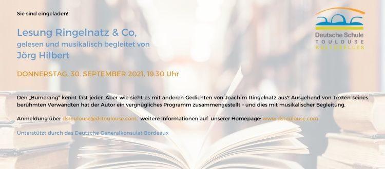 Deutsche Schule Toulouse, Einladung zur Ringelnatz-Lesung