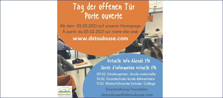 Deutsche Schule Toulouse, Plakat Tag der offenen Tür 2021