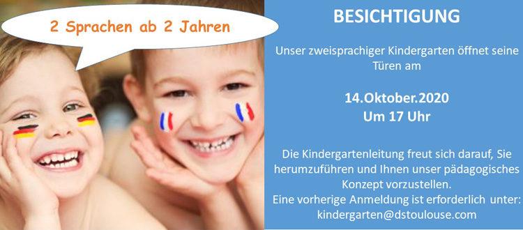 Flyer DST Kindergartenbesichtigung 2020 - Copyright Foto: spass. AdobeStock 65149249.