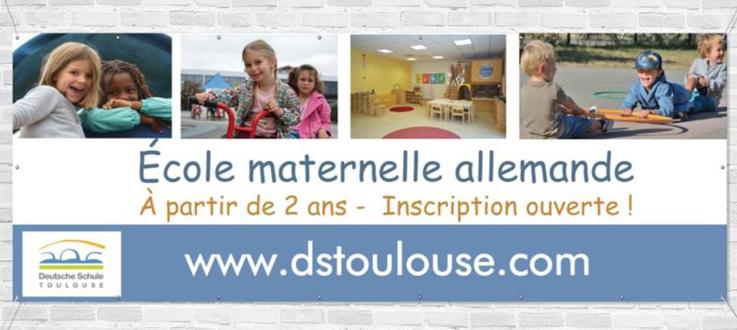 Deutsche Schule Toulouse, Banner Einschreibung Kindergarten