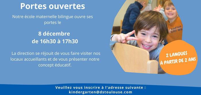 Deutsche Schule Toulouse, Affiche portes ouvertes le 8 décembre 2021
