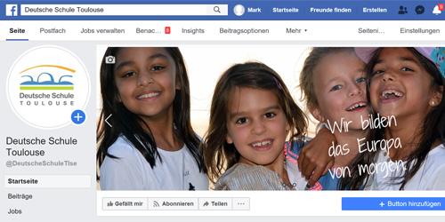 Deutsche Schule Toulouse, Screenshot Facebook-Seite