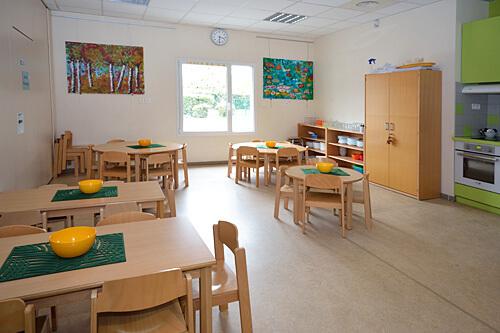 Deutsche Schule Toulouse | Kindergarten: Räume und Ausstattung - Küche. Fotografin: Nicole Knüppel