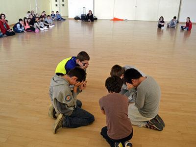 Kooperation mit IST - Kinder in der Sporthalle