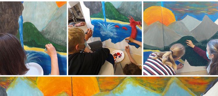 Deutsche Schule Toulouse, Schüler gestalten Wandbild