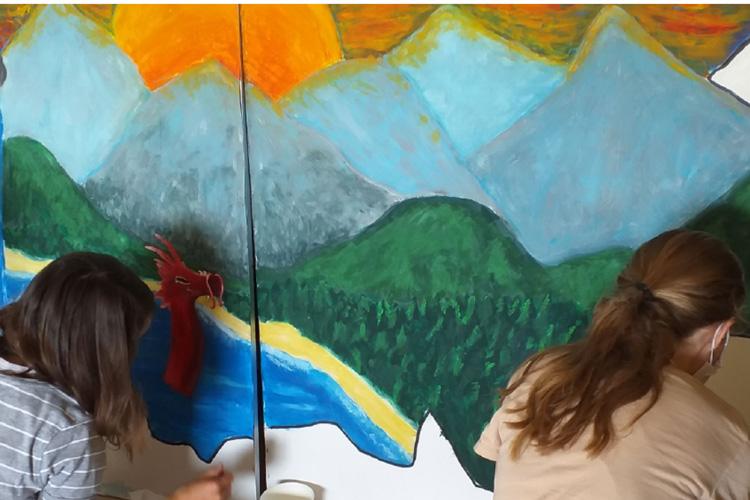 Deutsche Schule Toulouse, Wandmalerei
