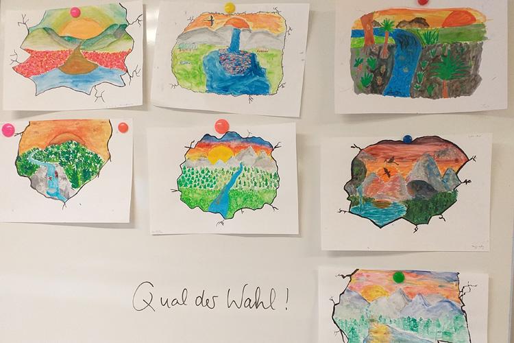 Deutsche Schule Toulouse, Vorschläge für Wandmalerei