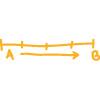 Strichzeichnung Strecke A - B
